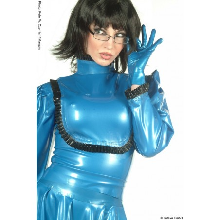 Blouse froufrous latex