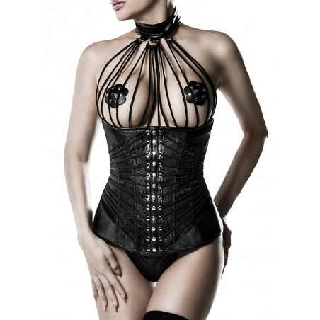 Ensemble bustier collier vu de face